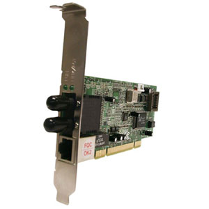 Transition Networks Dual Media Network Interface Cards - PCI - 1 x RJ-45 , 1 x ST - 10/100Base-TX, 100Base-FX