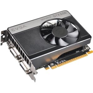 EVGA GeForce GTX 650 Graphic Card - 1202 MHz Core - 1 GB GDDR5 SDRAM - PCI Express 3.0 x16 - 5000 MHz Memory Clock - 2560 x 1600 - Fan Cooler - DirectX 11.0, DirectCompute 5.0, OpenGL 4.2, OpenCL - HDMI - DVI