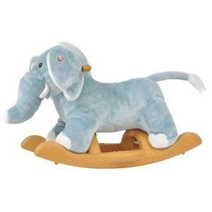 Radio Road Toys Voice Recording Rocking Elephant-Blue