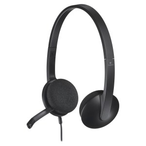 Logitech USB Headset H340 - Stereo - USB - Wired - 20 Hz - 20 kHz - Over-the-head - Binaural - Semi-open - 6 ft Cable