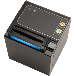 Seiko Qaliber RP-E10 Direct Thermal Receipt Printer - Monochrome 13.78 in/s Mono 203 dpi - Ethernet, Black (350MM/SECOND)