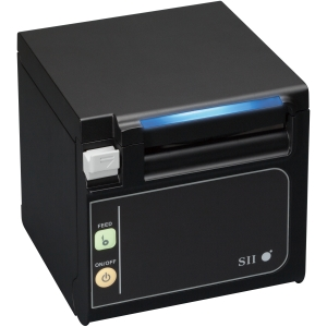 Seiko Qaliber RP-E11 Direct Thermal Receipt Printer - Monochrome 13.78 in/s Mono 203 dpi - Front Access Serial, Black (350MM/SECOND)