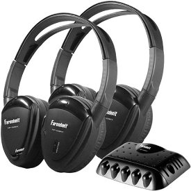 Power Acoustik 2-Piece Single Channel Headphone Set with Transmitter