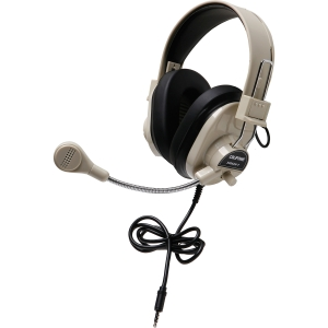 Califone 3066Avt Deluxe Stereo Headset Mic 3.5Mm 3Ft Via Ergoguys - Stereo - Black - Mini-phone - Wired - 300 Ohm - 20 Hz - 20 kHz - Nickel Plated - Over-the-head - Binaural - Ear-cup - 3 ft Cable - Electret Microphone