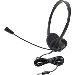 Califone 3065Avt Lightweight Stereo Headset W/Mic 3.5Mm Ergoguys - Stereo - Black - Mini-phone - Wired - 32 Ohm - 20 Hz - 20 kHz - Over-the-head - Binaural - Semi-open - 6 ft Cable - Electret Microphone