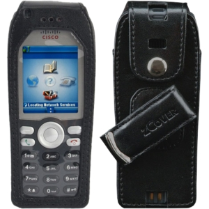 zCover gloveOne Carrying Case for IP Phone - Black - Leather