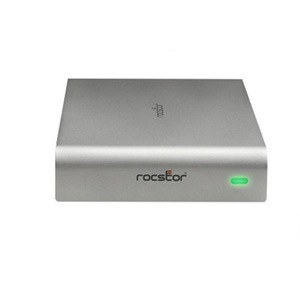 Rocstor Rocpro 900e 3 TB 3.5&quot; External Hard Drive - Silver - USB 3.0, eSATA, FireWire/i.LINK 800 - SATA - 7200 rpm