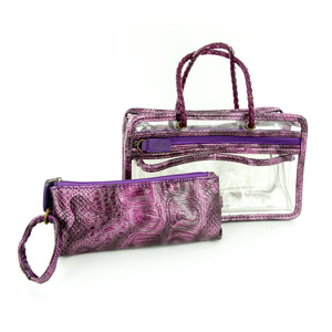 Switch it Hand bag Organizers Mini Insert (Purple Croc)