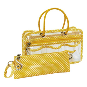 Switch it Hand bag Organizers Mini Insert (Polka Dot Yellow)