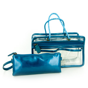 Switch it Hand bag Organizers Mini Insert (Lagoon Solid)