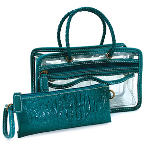 Switch it Hand bag Organizers Mini Insert (Turquoise Croc)