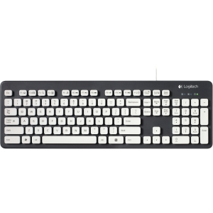 Logitech Washable Keyboard K310 - Cable - Black, White - USB - Computer