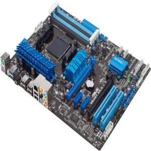Asus M5A97 R2.0 Desktop Motherboard - AMD 970 Chipset - Socket AM3+ - ATX - 1 x Processor Support - 32 GB DDR3 SDRAM Maximum RAM - CrossFireX Support - Serial ATA/600 RAID Supported Controller - 2 x PCIe x16 Slot - 2 x USB 3.0 Port