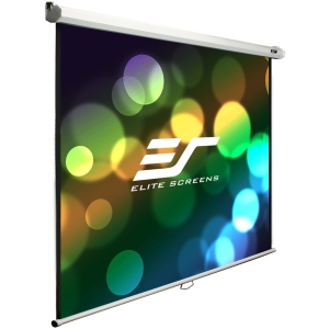 "Elite Screens Manual B M100S Projection Screen - Manual - 70.5"" x 70.5"" - MaxWhite - 100"" Diagonal - 1:1 - Ceiling Mount, Wall Mount"