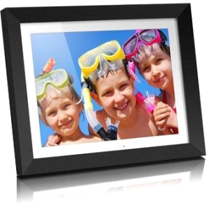 "Aluratek Digital Frame - 8"" LED Digital Frame - White - 800 x 600"