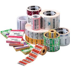 "Zebra Label Paper 2 x 1in Direct Thermal Zebra Z-Perform 1000D 0.75 in core - 2"" Width x 1"" Length - 36 / Carton - 350/Roll - 0.75"" Core - Paper - Direct Thermal - White"