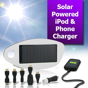 Solio Emergency Mono Solar Hybrid Charger and Attachment Bundle