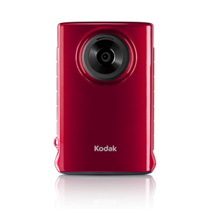 KODAK Mini Waterproof Video Camera ZM1 Ultra Thin &amp; Lightweight with SD Card, Red