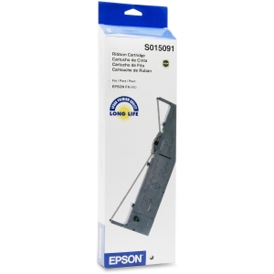 Epson Black Ribbon Cartridge - Black - Dot Matrix - 7500000 Character - 1