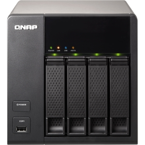 QNAP Turbo NAS TS-412 Network Storage Server - Marvell 6281 1.20 GHz - RJ-45 Network, USB, eSATA