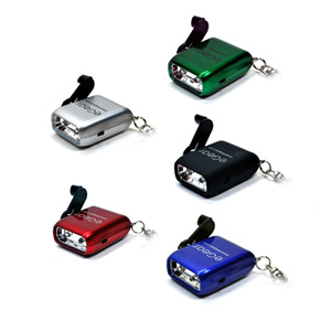eGear Dynamo DYNO-MITE LED Keychain Flashlight (Random Colors)
