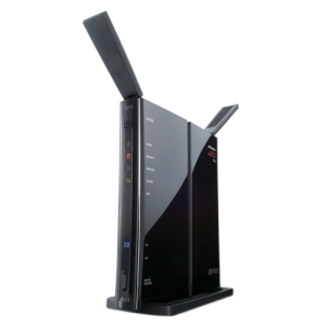 Buffalo AirStation WZR-300HP Wireless Router - IEEE 802.11n - 2 x Antenna - ISM Band - 300 Mbps Wireless Speed - 4 x Network Port - 1 x Broadband Port - USB Wall Mountable, Desktop