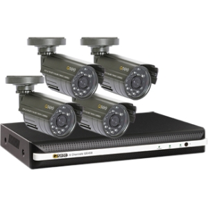 Q-see QS458-411 Video Surveillance System - 4 x Digital Video Recorder, Camera - H.264 Formats - 500 GB Hard Drive