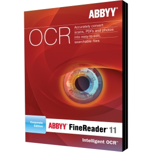 ABBYY FineReader v.11.0 Corporate Edition - Complete Product - 1 Concurrent User - OCR Utility - Standard Box Retail - DVD-ROM - PC