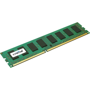 Crucial 4GB DDR3 SDRAM Memory Module - 4 GB - DDR3 SDRAM - 1600 MHz DDR3-1600/PC3-12800 - Non-ECC - Unbuffered - 240-pin - DIMM