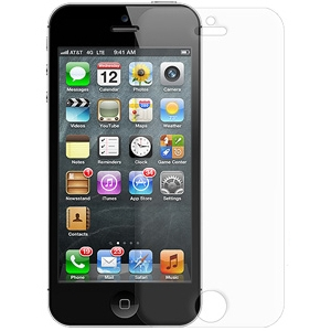 Image of Amzer Anti-Glare Screen Protector with Cleaning Cloth For iPhone 5 - iPhone