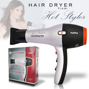 Hot Styler Salon Grade Tourmaline Ionic Silver Nano 1875 Watts Hair Dryer - HDR4500