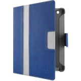 Belkin Cinema Stripe Carrying Case (Folio) for iPad - Blue Gray, Gravel - Thermoplastic Polyurethane (TPU)