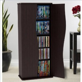 VENUS WOOD MM CABINET ESPRESSO HOLDS 198 CDS 88DVDS 108BLU-RAYS
