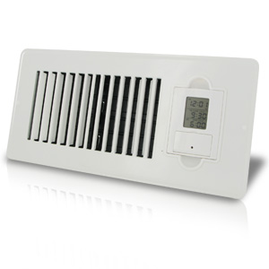 Vent-Miser 91664 Programmable Energy Saving Vent 4-by-10-Inches, White