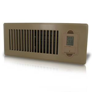 Vent-Miser 91665-BR Programmable Energy Saving Vent, 12-by-4-Inches, Brown