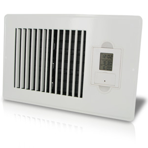 Vent-Miser 91667 Programmable Energy Saving Vent, 10 by 6-Inch, White