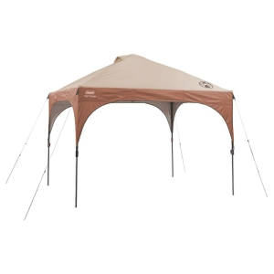 Coleman 10 ft x 10 ft Lighted Instant Canopy - Canopy StyleBeige - Steel