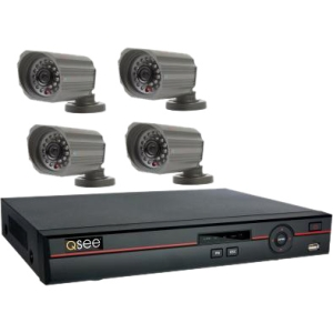 Q-see QC448-418-5 Video Surveillance System - 4 x Digital Video Recorder, Camera - H.264 Formats - 500 GB Hard Drive