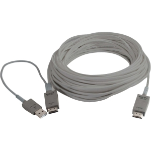 C2G TruLink USB/HDMI Active Optical Cable - USB/HDMI for Audio/Video Device - 32.81 ft - 1 x HDMI Digital Audio/Video - 1 x HDMI Digital Audio/Video, 1 x USB - Gray