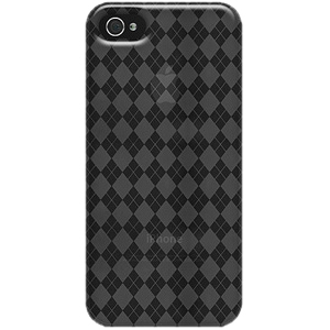 Amzer iPhone Case - iPhone - Smoke Gray - Luxe Argyle - High Gloss - Thermoplastic Polyurethane (TPU)