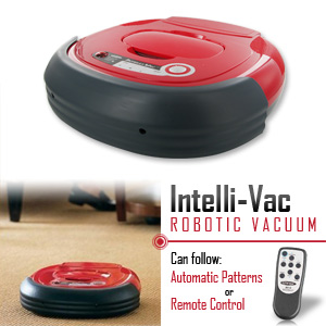 Lentek Intelli-Vac Robotic Vacuum Deluxe with Rapid Charger