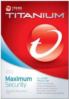 Titanium Maximum Security 2013 for 3 Devices (PC, Mac, or Android)