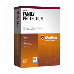 McAfee Family Protection 2013 for 3 PCs