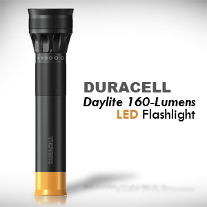 Duracell Daylite 160-Lumens, 4-Watt LED Flashlight - Hard Anodized Aircraft Grade Aluminum, Water Resistant