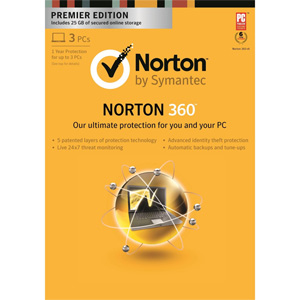 Norton 360 Premier 2013 for up to 3 PCs