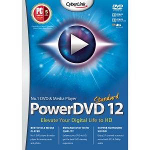 Cyberlink PowerDVD v.12.0 Standard - Multimedia Player Box - DVD-ROM - PC - English