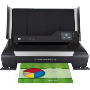 HP Officejet 150 Inkjet Multifunction Printer - Color - Plain Paper Print - Desktop - Copier/Printer/Scanner - 22 ppm Mono/18 ppm Color Print - 5 ppm Mono/3.5 ppm Color Print (ISO) - 600 x 600 dpi Print - Touchscreen - 600 dpi Optical Scan - Manual Duplex