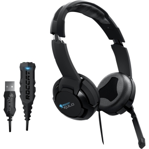 Roccat Kulo - Virtual 7.1 USB Gaming Headset - Stereo - Mini-phone - Wired - 50 Ohm - 20 Hz - 20 kHz - Over-the-head - Binaural - Ear-cup - 8.20 ft Cable - Noise Filtering Microphone