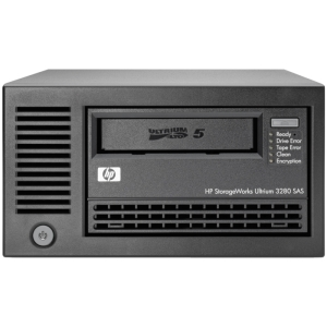 "HP LTO-5 Ultrium 3280 SAS External Tape Drive - 1.50 TB (Native)/3 TB (Compressed) - SAS - 5.25"" Width - 1/2H Height - External"