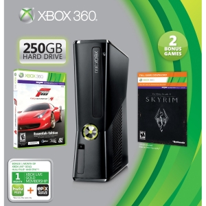Microsoft Xbox 360 Limited Edition Action and Adventure Bundle - With Game Pad - Wireless - Black - ATI Xenos - 1920 x 1080 - 16:9 - 1080p - Dolby Digital - DVD-Reader - 250 GB HDD - Fast Ethernet - Wi-Fi - HDMI - USB